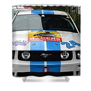 Mustang Race Car Shower Curtain