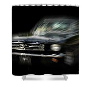 Mustang Zoom Zoom Shower Curtain