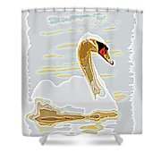 Mute Swan - Different Shower Curtain