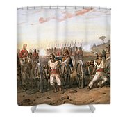 Mutineers About To Be Blown From Guns Shower Curtain