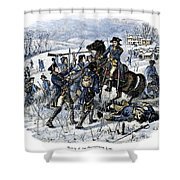 Mutiny: Anthony Wayne 1781 Shower Curtain by Granger