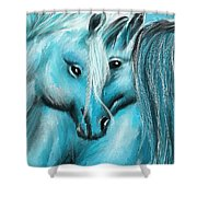 Mutual Companions- Fine Art Horse Artwork Shower Curtain
