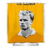 My Bergkamp Soccer Legend Poster Shower Curtain by Chungkong Art