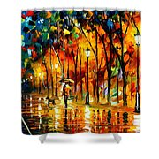 My Best Friend - Palette Knife Oil Painting On Canvas By Leonid Afremov Shower Curtain