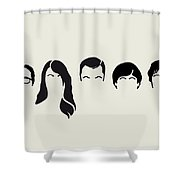 My-big-bang-hair-theory Shower Curtain by Chungkong Art