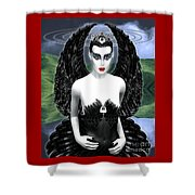 My Black Swan Shower Curtain