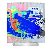 my bonnie lies over the ocean but I am here  Shower Curtain by Hilde Widerberg