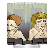 My Brother And Me Shower Curtain