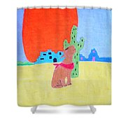 My Cactus Friend And I Shower Curtain