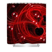 My Cosmic Valentine Shower Curtain by Peggy Hughes