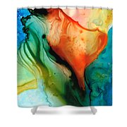 My Cup Runneth Over - Abstract Art By Sharon Cummings Shower Curtain