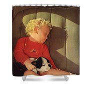My Dad A Boy And His Dog 1932 Shower Curtain