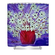 My Daisies Blue Version Shower Curtain