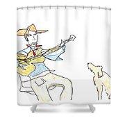 My Dog Has Flees Shower Curtain