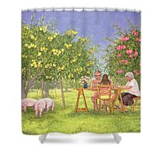 My Family And Other Animals Shower Curtain