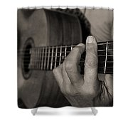 My Father's Hands By Diana Sainz Shower Curtain