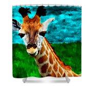 My Favorite Giraffe Shower Curtain