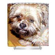 My Friend Lhasa Apso Shower Curtain