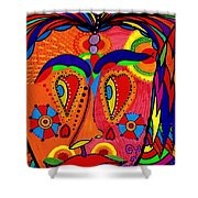 My Funny Little Clown Face - Color Love Shower Curtain
