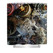 My Gears Will Grind  Shower Curtain