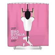 My Giro D'italia Minimal Poster Shower Curtain by Chungkong Art