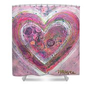 My Glittering Heart Shower Curtain