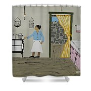 Coal Miners Wife Shower Curtain
