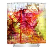 My Heart Belongs To You Ocean Shower Curtain by PainterArtist FIN