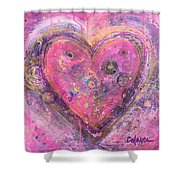 My Heart Of Circles Shower Curtain