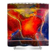 My Heart On My Sleeve An Abstract Painting Shower Curtain
