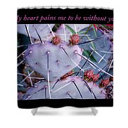 My Heart Pains Me To Be Without You 7 Shower Curtain