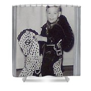 My Horse Black And White Shower Curtain