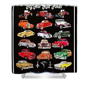 Hot Rod Ford Poster Shower Curtain