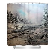My Idea Of Heaven Shower Curtain by Jean Walker