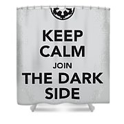 My Keep Calm Star Wars - Galactic Empire-poster Shower Curtain by Chungkong Art