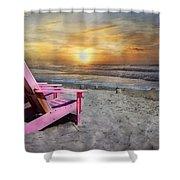 My Life As A Beach Chair Shower Curtain