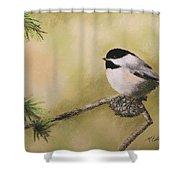 My Little Chickadee Shower Curtain