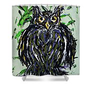 My Little Owl Shower Curtain