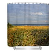 My Love Awaits Me By The Sea Shower Curtain