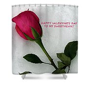 My Love To Keep You Warm Shower Curtain