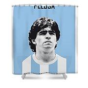 My Maradona Soccer Legend Poster Shower Curtain