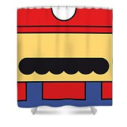 My Mariobros Fig 01 Minimal Poster Shower Curtain