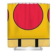 My Mariobros Fig 05c Minimal Poster Shower Curtain by Chungkong Art