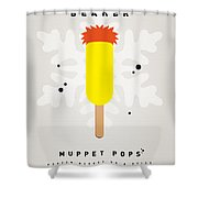 My Muppet Ice Pop - Beaker Shower Curtain by Chungkong Art