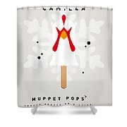 My Muppet Ice Pop - Camilla Shower Curtain by Chungkong Art