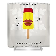 My Muppet Ice Pop - Janice Shower Curtain