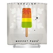 My Muppet Ice Pop - Scooter Shower Curtain by Chungkong Art