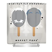 My Muppet Ice Pop - Statler And Waldorf Shower Curtain