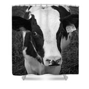 My Name Is Cow - Black And White Shower Curtain