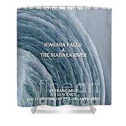 My Niagara Falls And Niagara River Book Shower Curtain